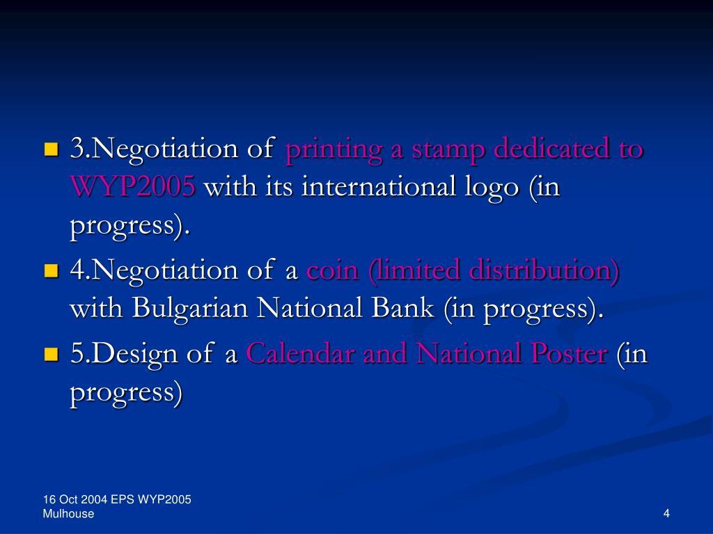 3.Negotiation of