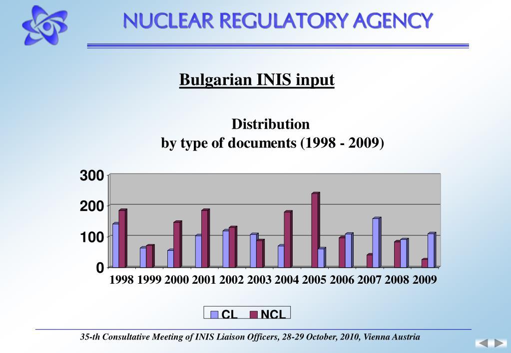 Bulgarian INIS input