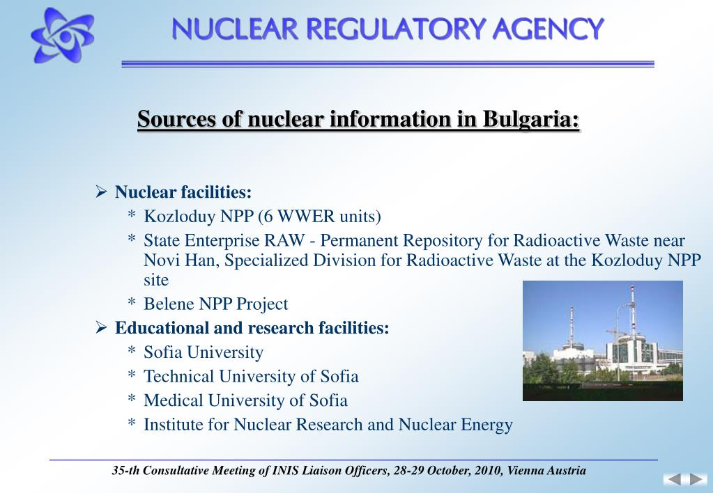 Sources of nuclear information in Bulgaria: