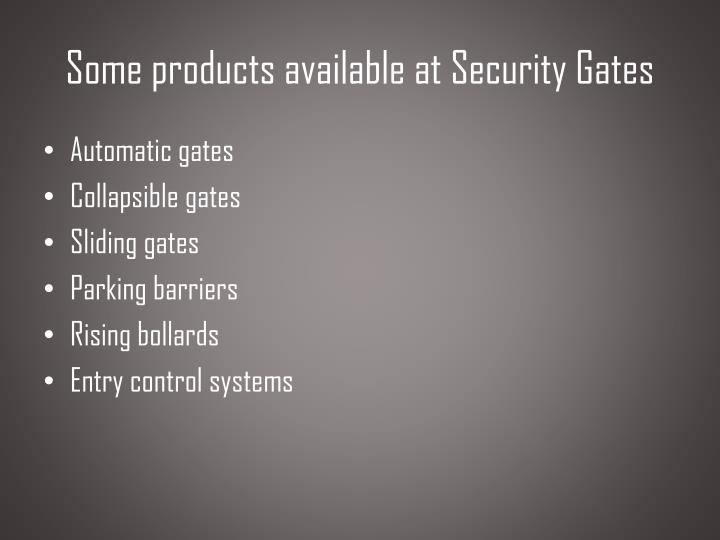 Some products available at security gates l.jpg