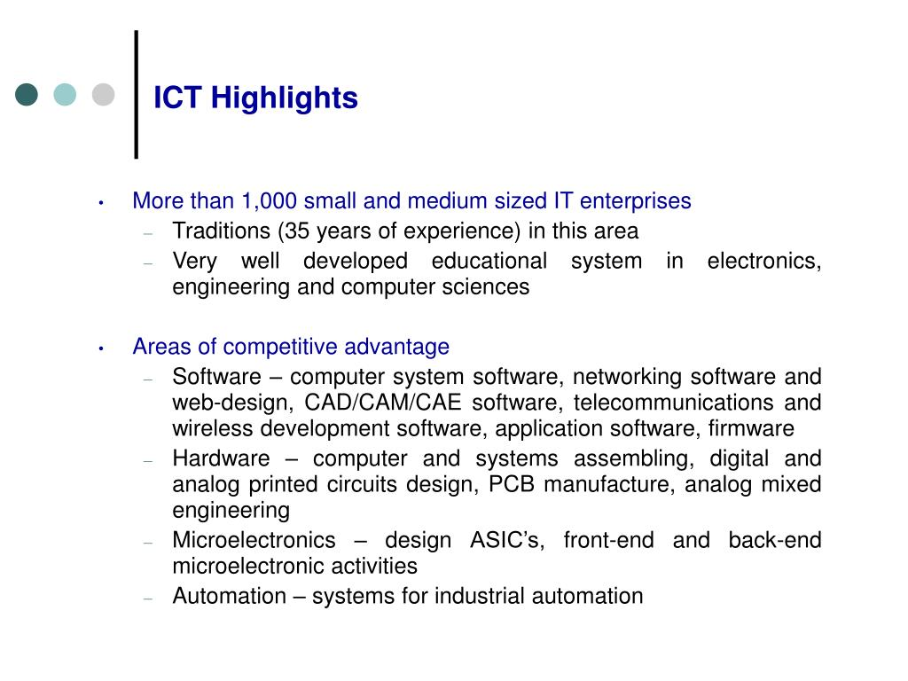 ICT Highlights