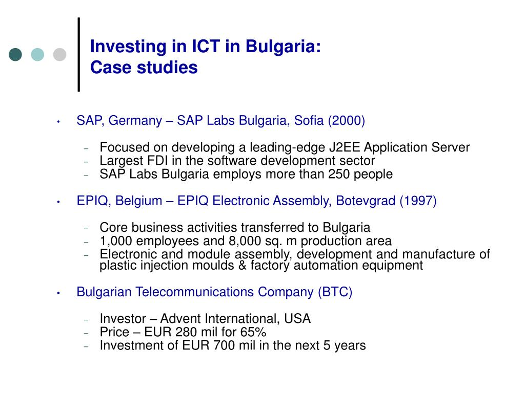 Investing in ICT in Bulgaria: