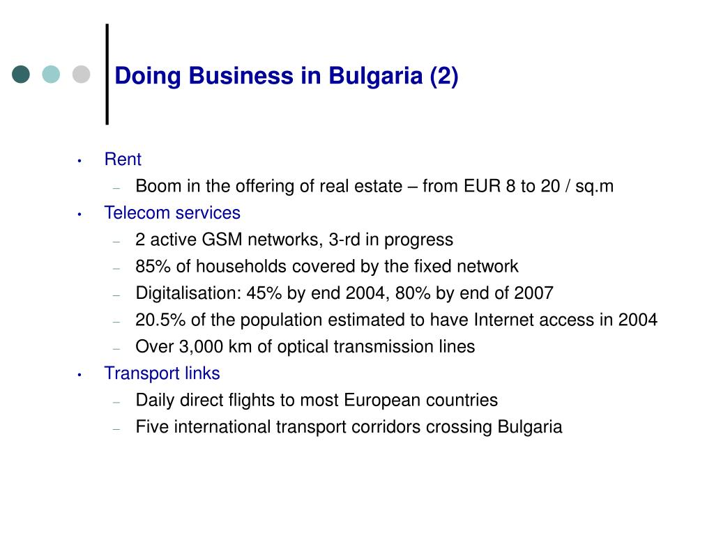 Doing Business in Bulgaria (2)