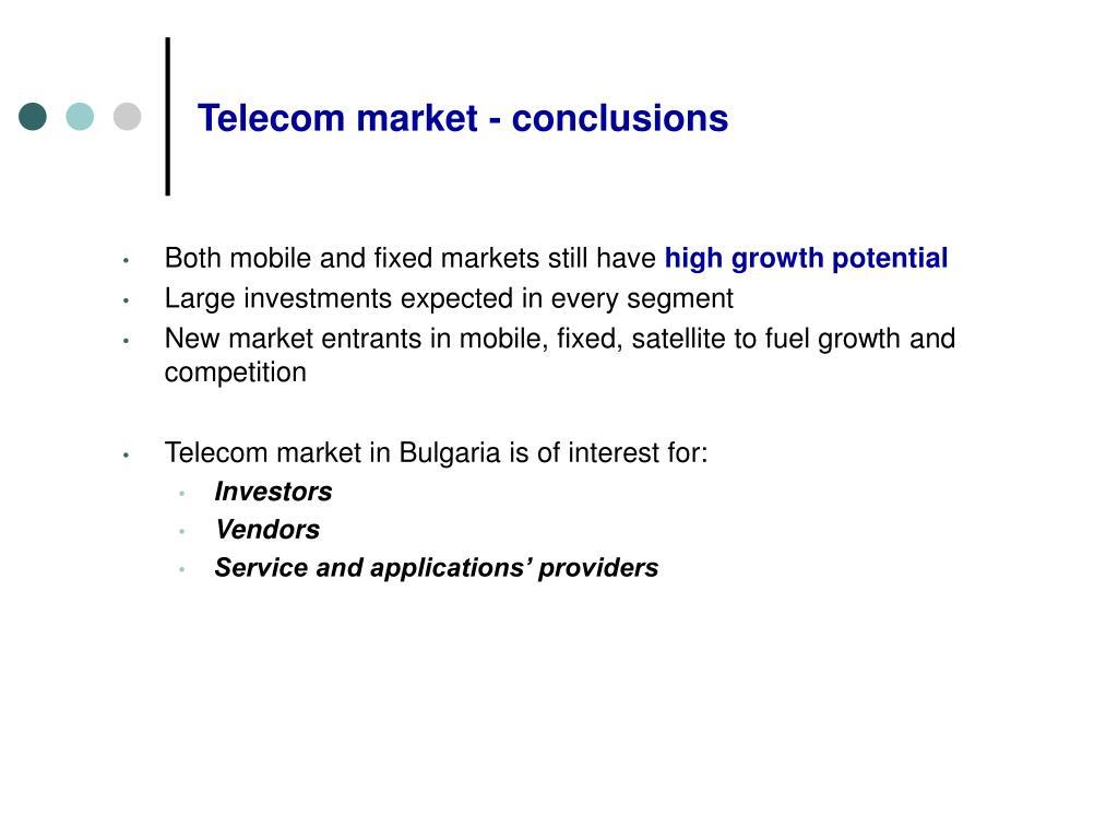 Telecom market - conclusions