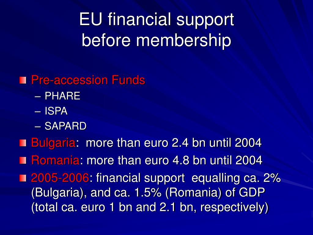EU financial support