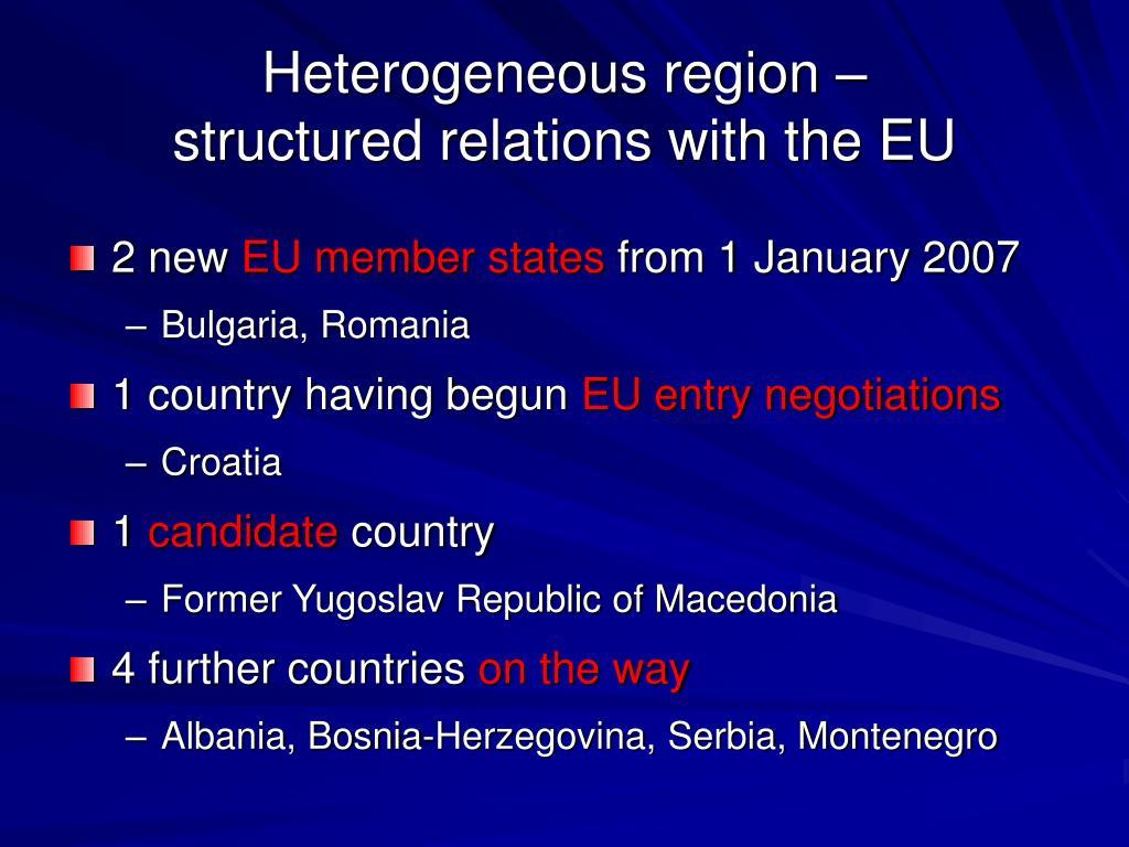 Heterogeneous region –