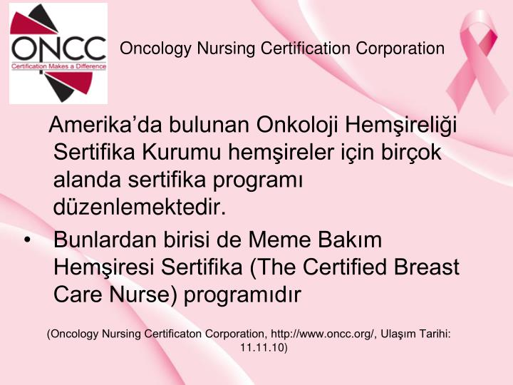 Oncology Nursing Certification Corporation