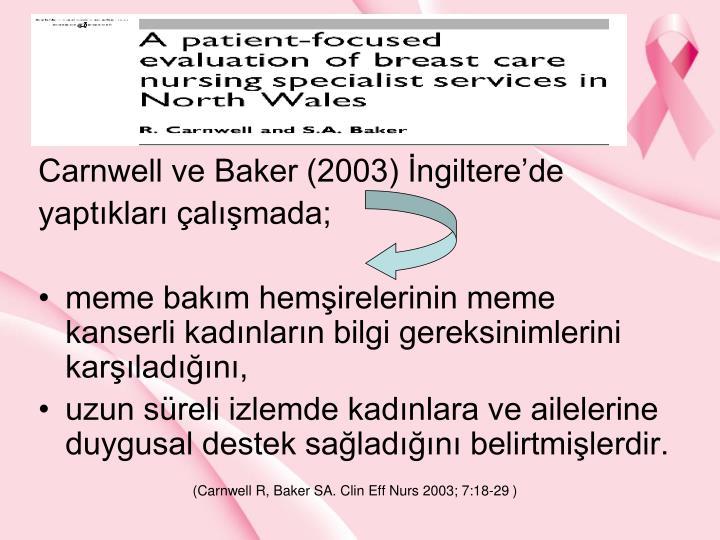 Carnwell ve Baker (2003) ngilterede