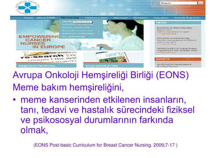 Avrupa Onkoloji Hemirelii Birlii (EONS)