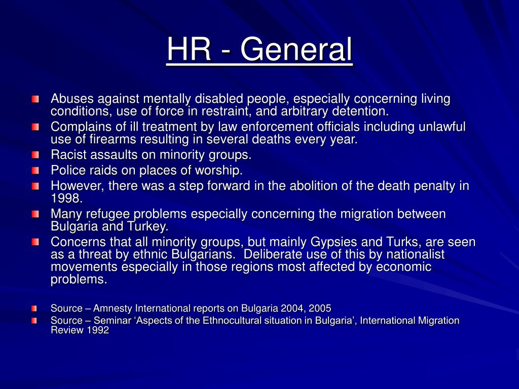 HR - General
