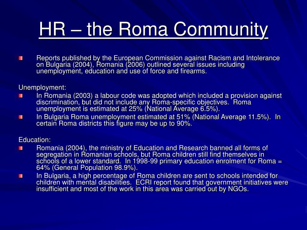 HR – the Roma Community