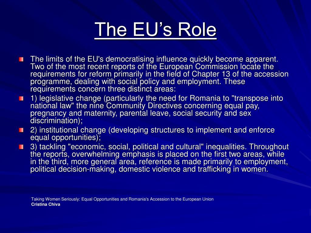 The EU's Role