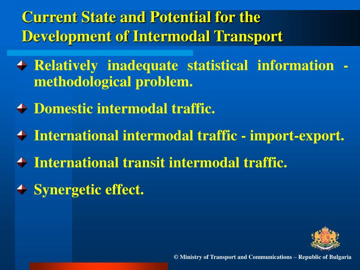 Current state and potential for the development of intermodal transport