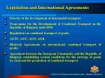 legislation and international agreements