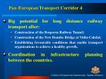 pan european transport corridor 4