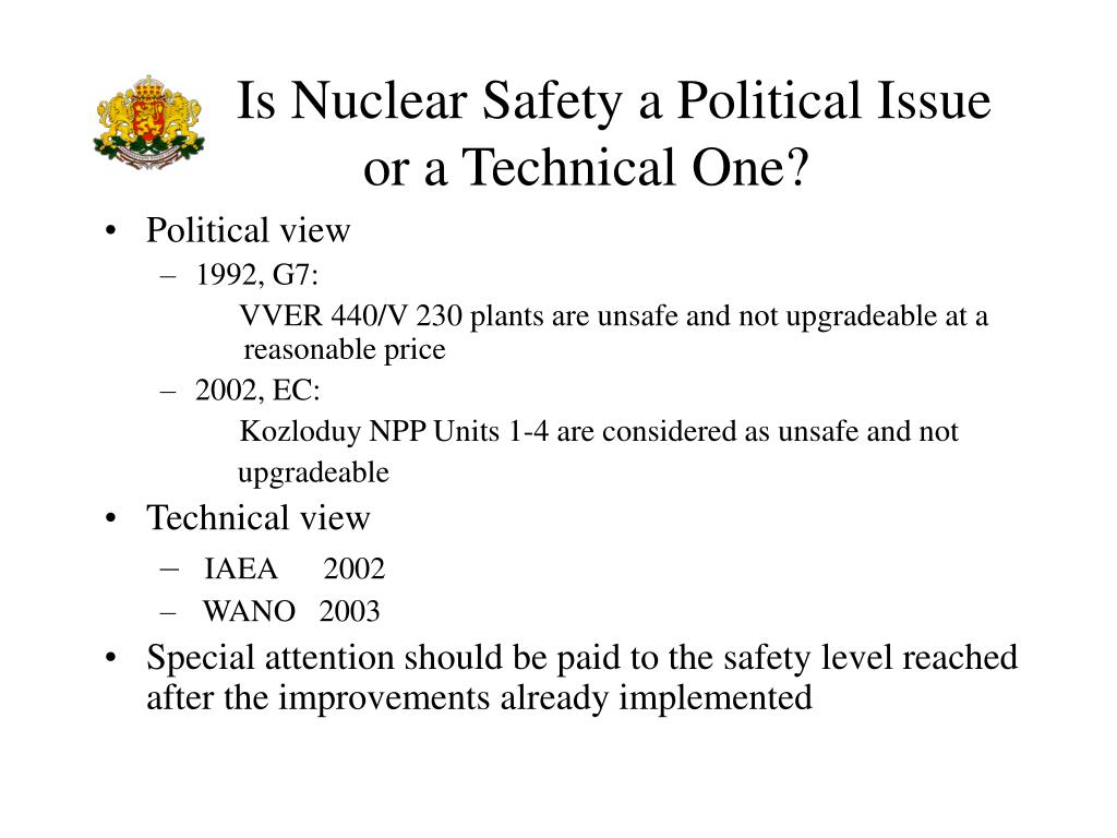 Is Nuclear Safety a Political Issue
