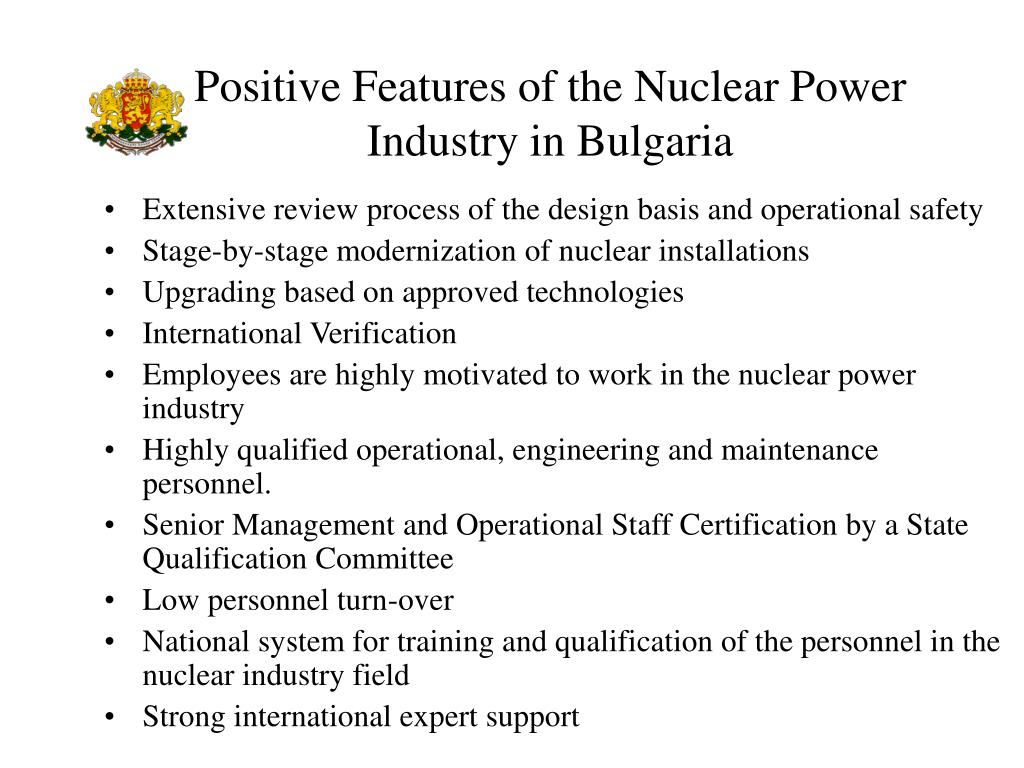 Positive Features of the Nuclear Power