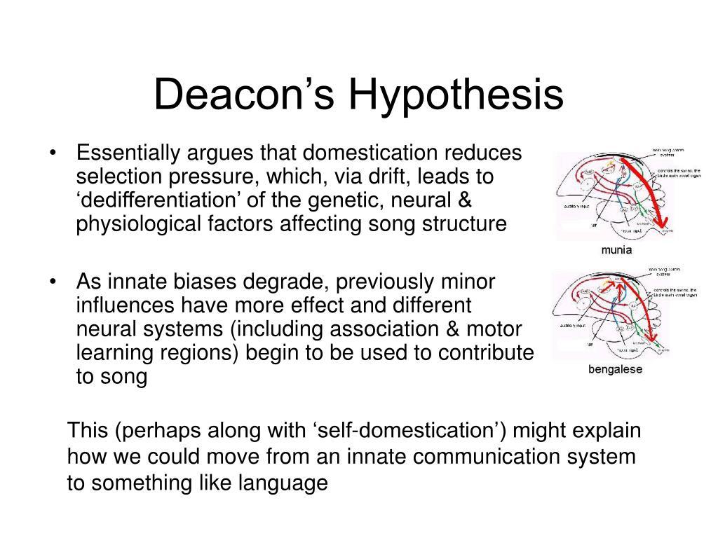 Deacon's Hypothesis