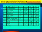 basic physical characteristics of tailings materials