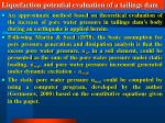 liquefaction potential evaluation of a tailings dam36