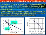 liquefaction potential evaluation of a tailings dam40