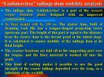 liuliakovitsa tailings dam stability analysis