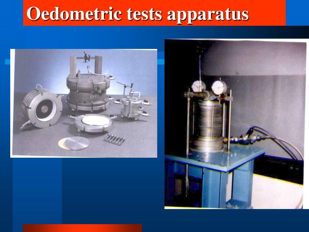 Oedometric tests apparatus