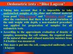 oedometric tests blue lagoon