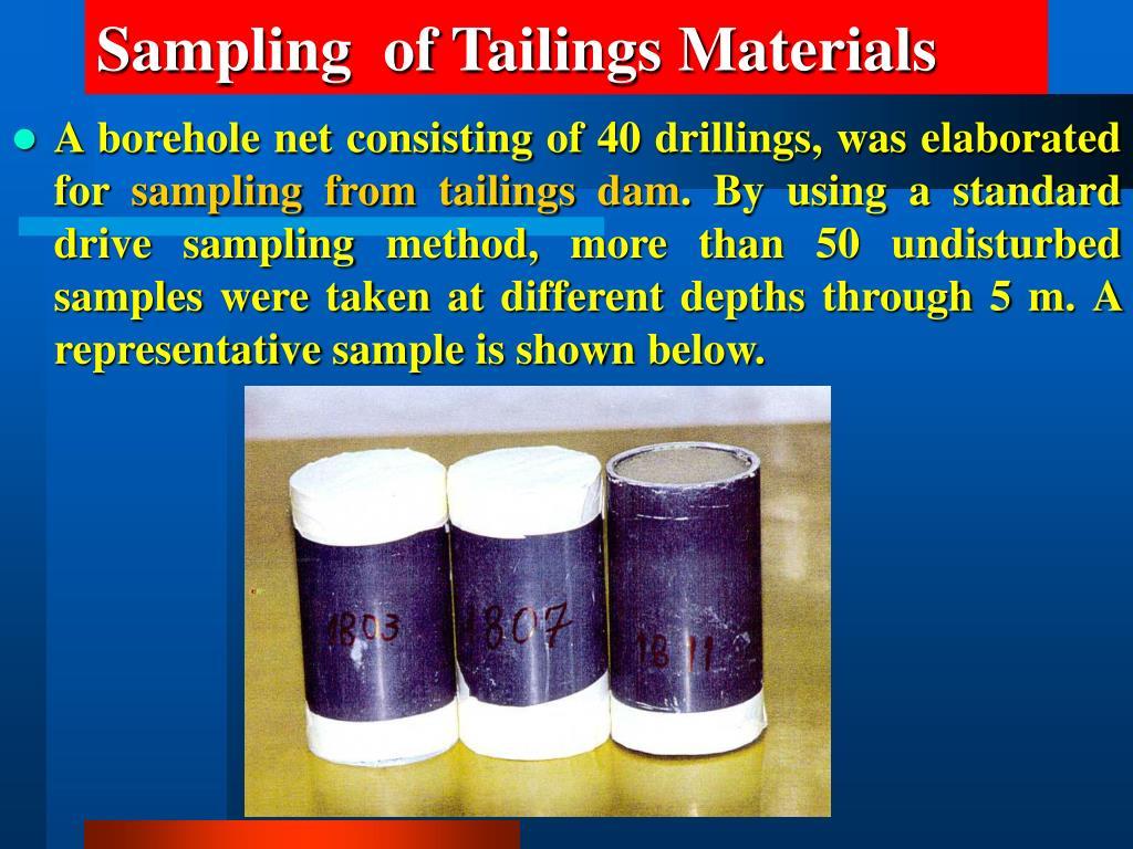 Sampling  of Tailings Materials