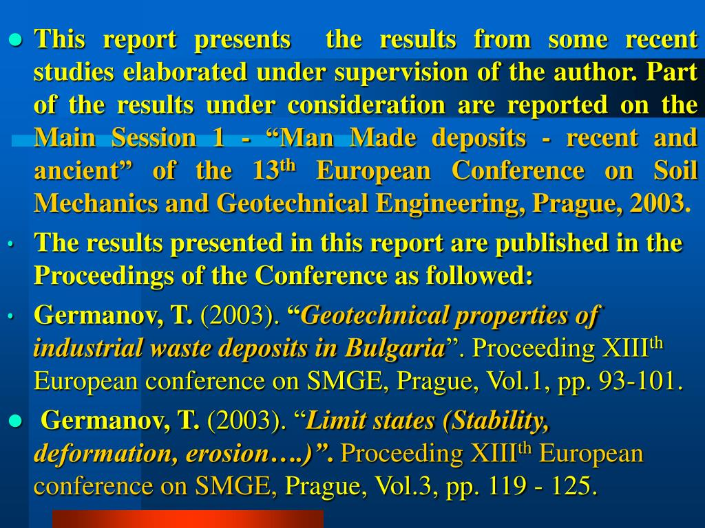 This report presents  the results from some recent studies elaborated under supervision of the author. Part of the results under consideration are reported on the