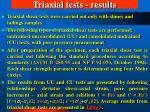 triaxial tests results