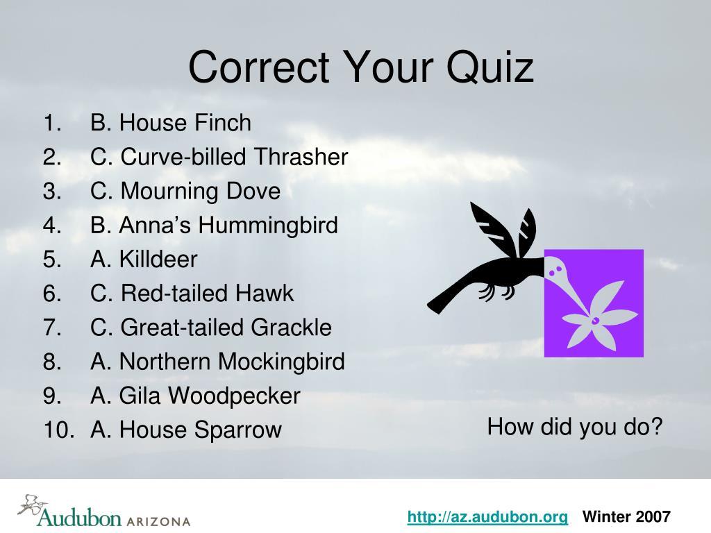 Correct Your Quiz