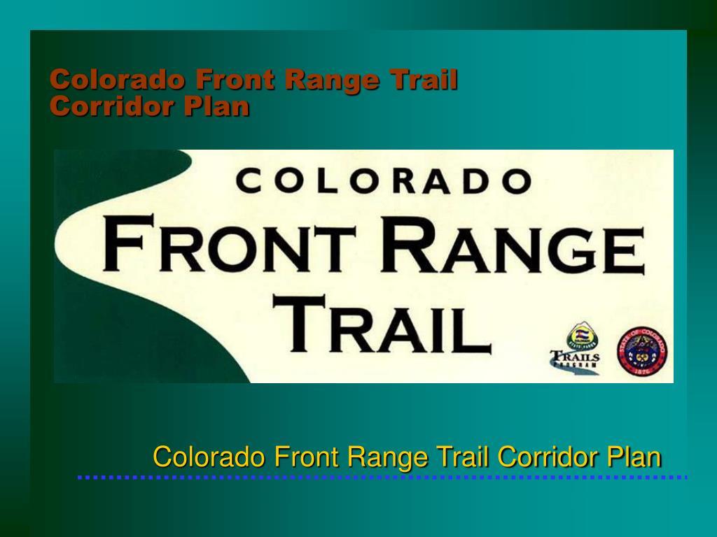 Colorado Front Range Trail