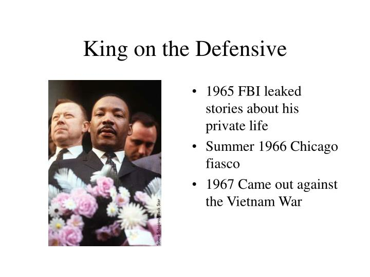 King on the Defensive