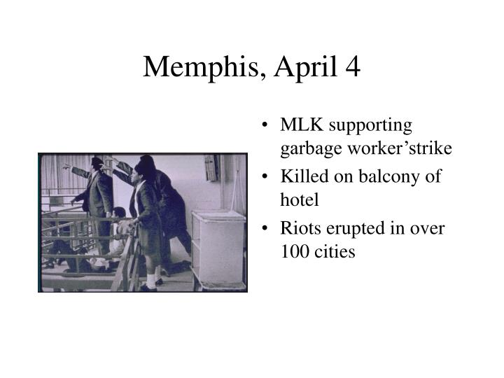 Memphis, April 4