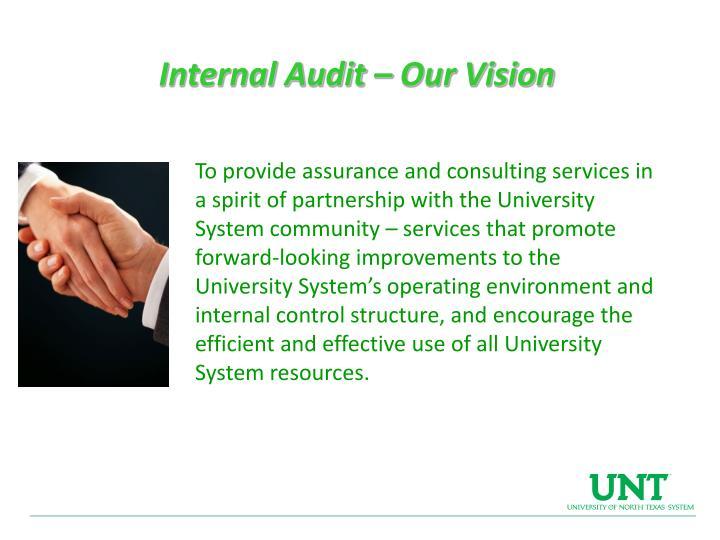 Internal Audit – Our Vision