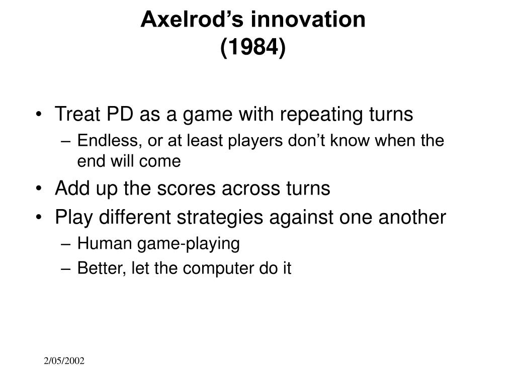 Axelrod's innovation