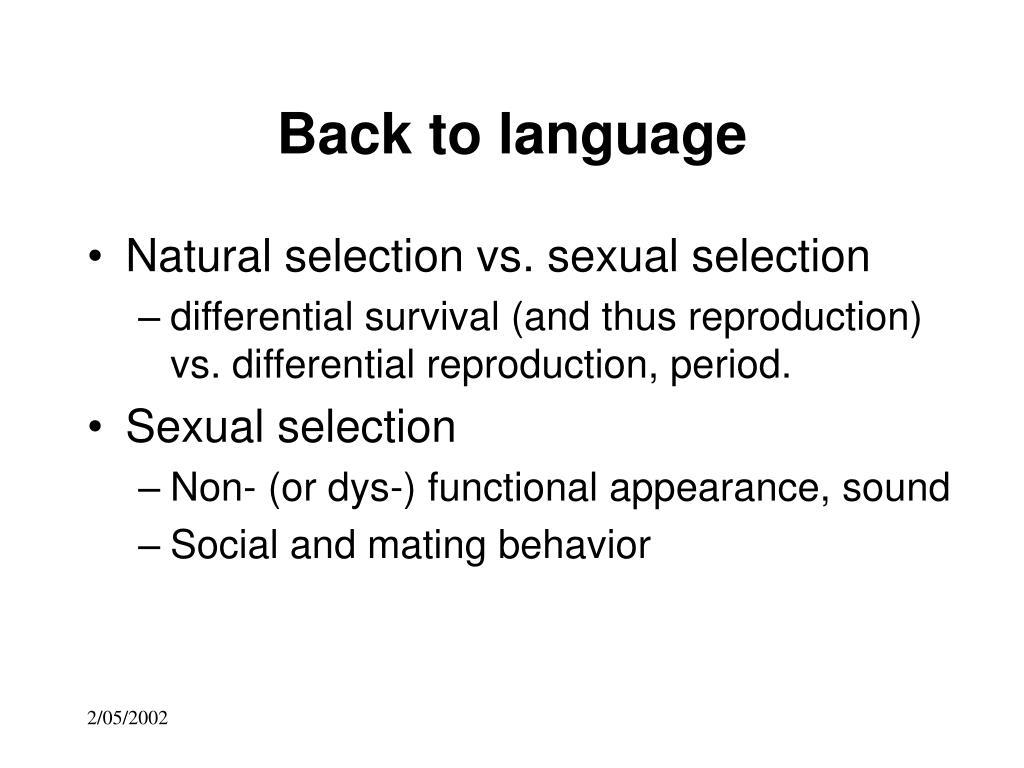 Back to language