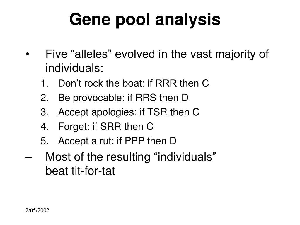 Gene pool analysis