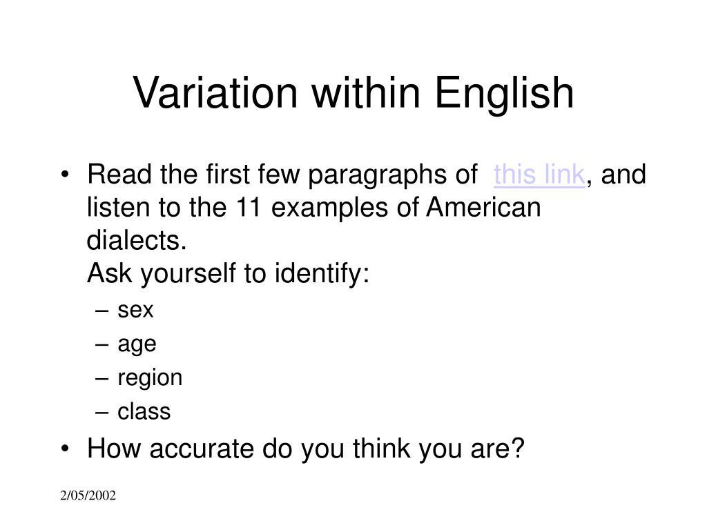 Variation within English