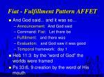 fiat fulfillment pattern affet