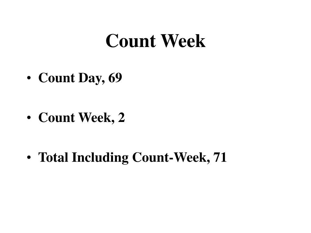 Count Week