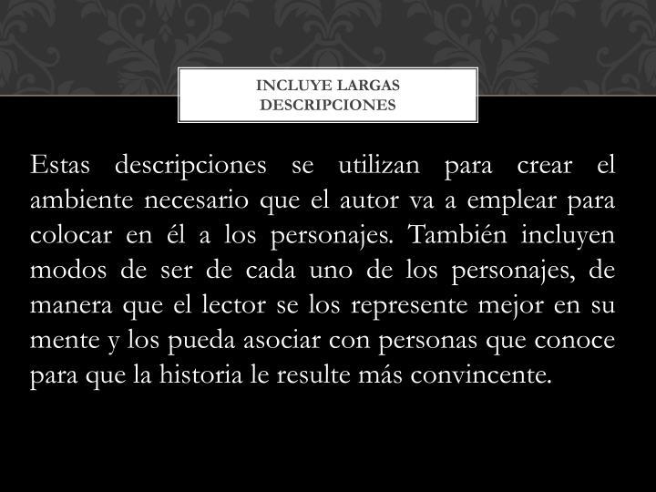 INCLUYE LARGAS DESCRIPCIONES