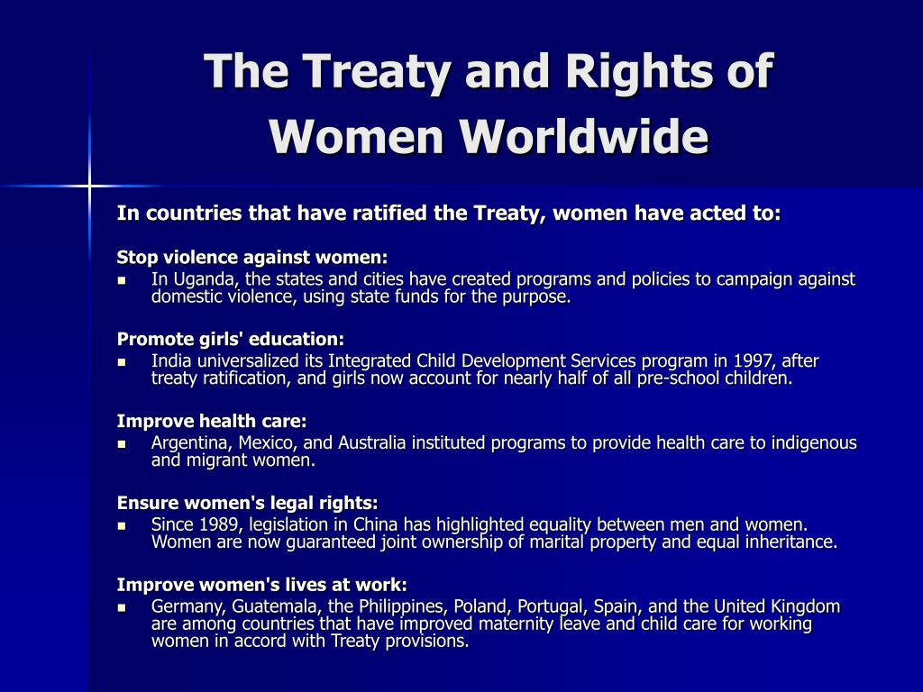 The Treaty and Rights of Women Worldwide