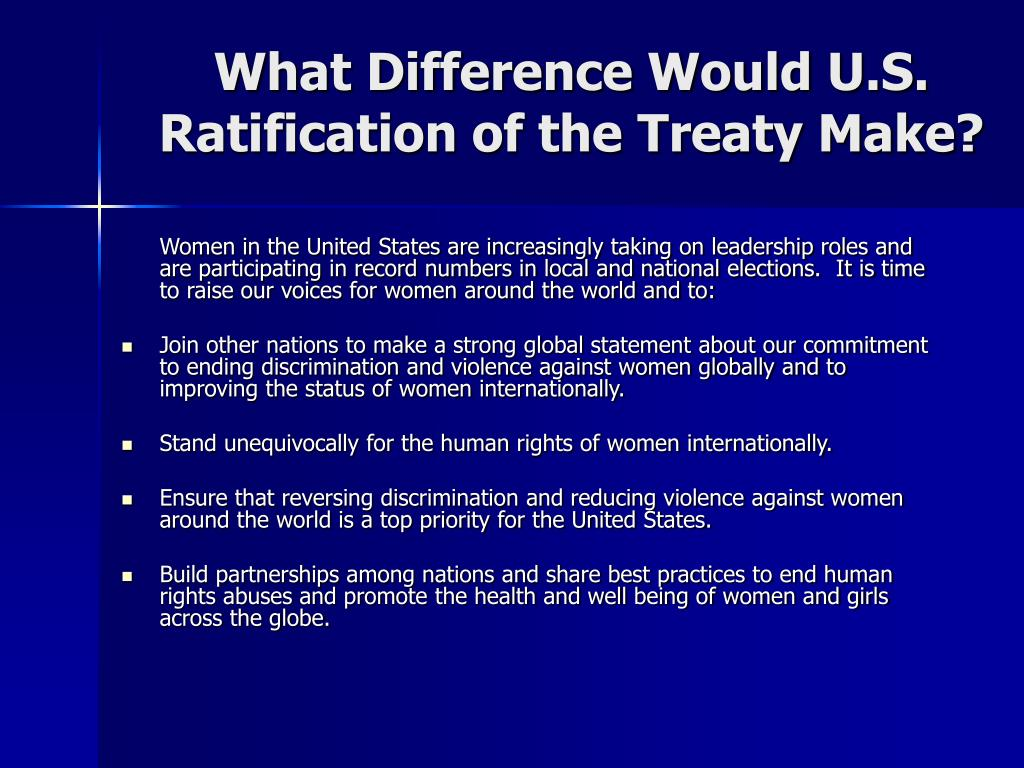 What Difference Would U.S.  Ratification of the Treaty Make?