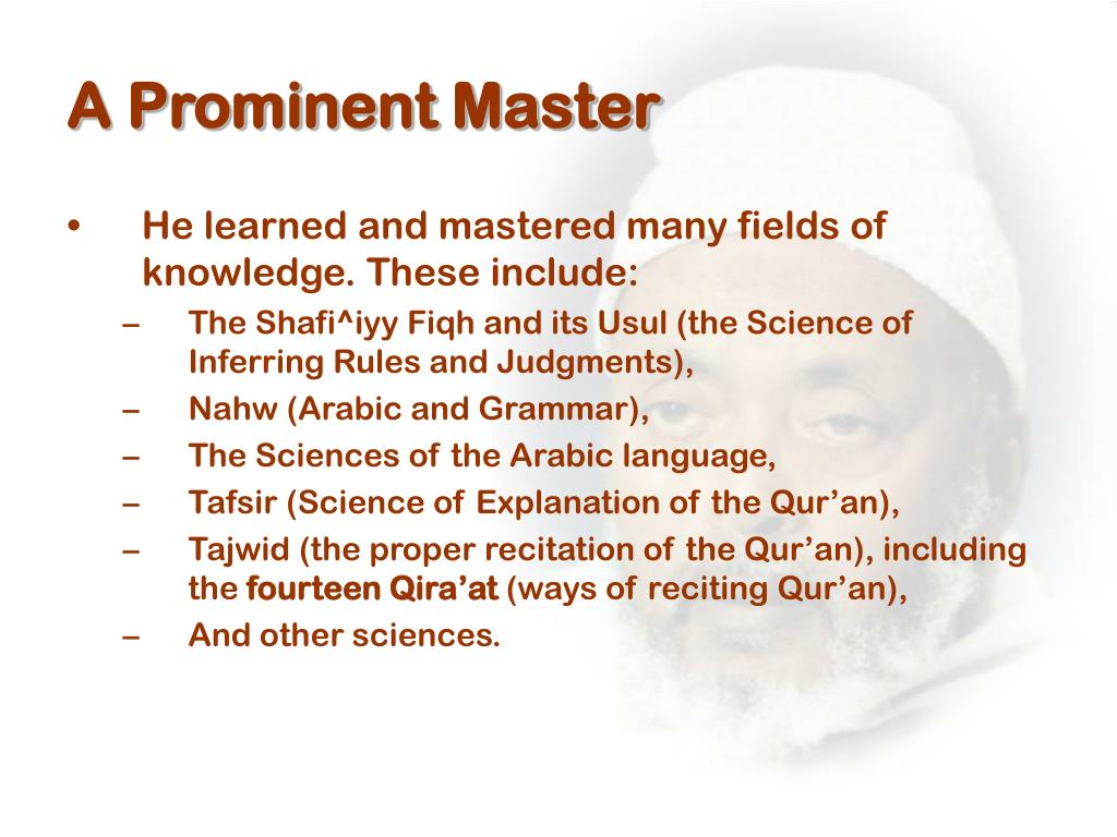 A Prominent Master
