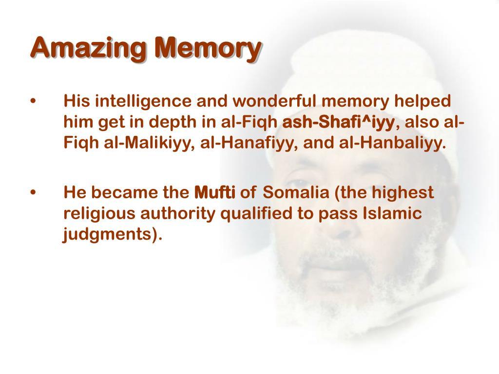 Amazing Memory