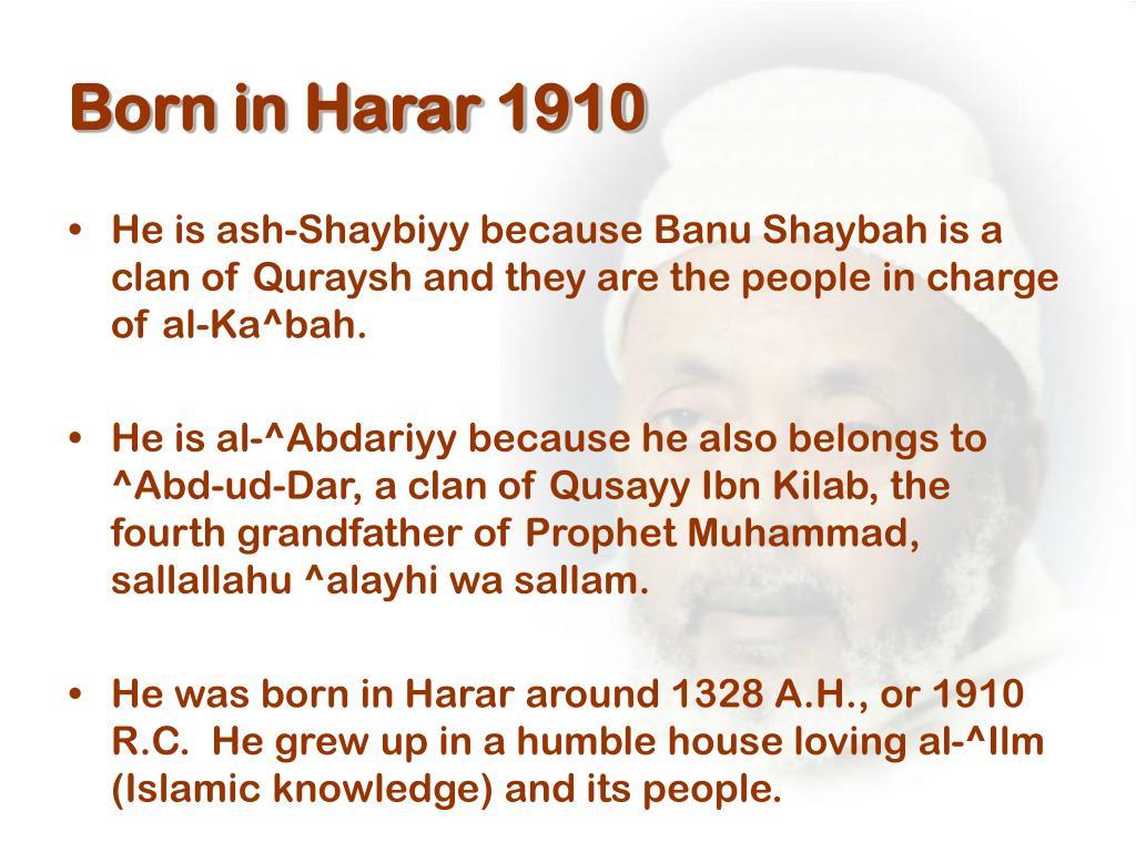Born in Harar 1910