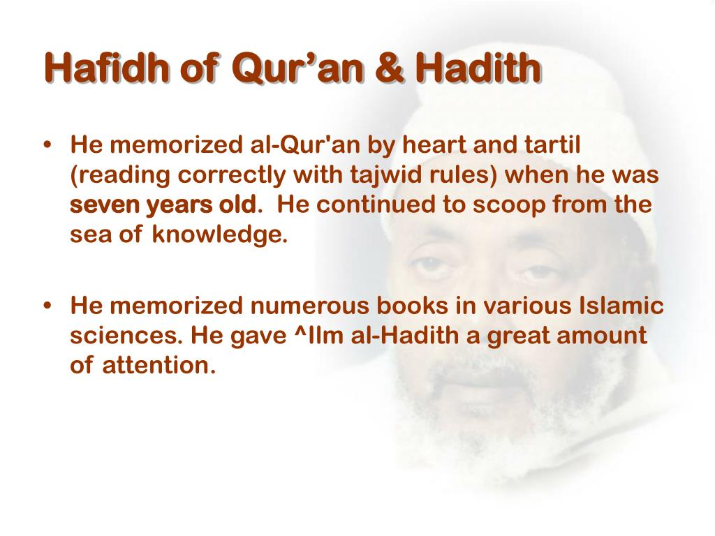 Hafidh of Qur'an & Hadith