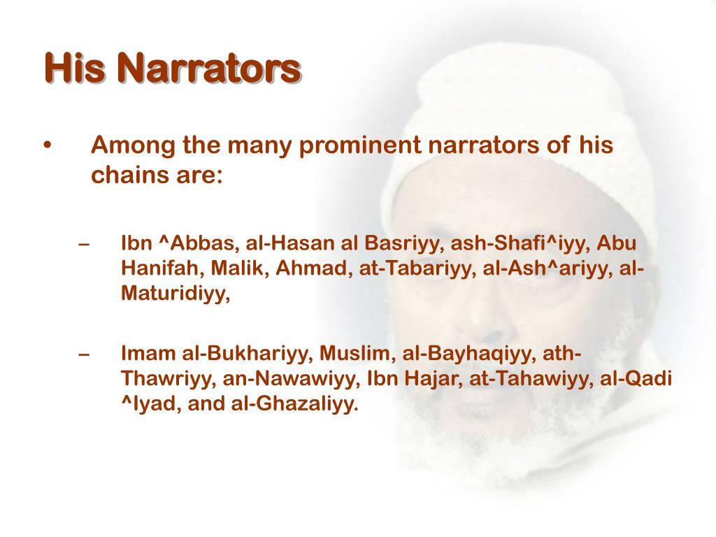 His Narrators